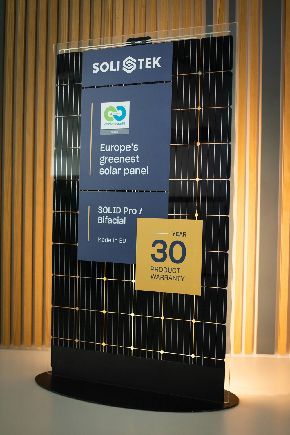 SoliTek's SOLID modules received Cradle to Cradle Silver Certificate