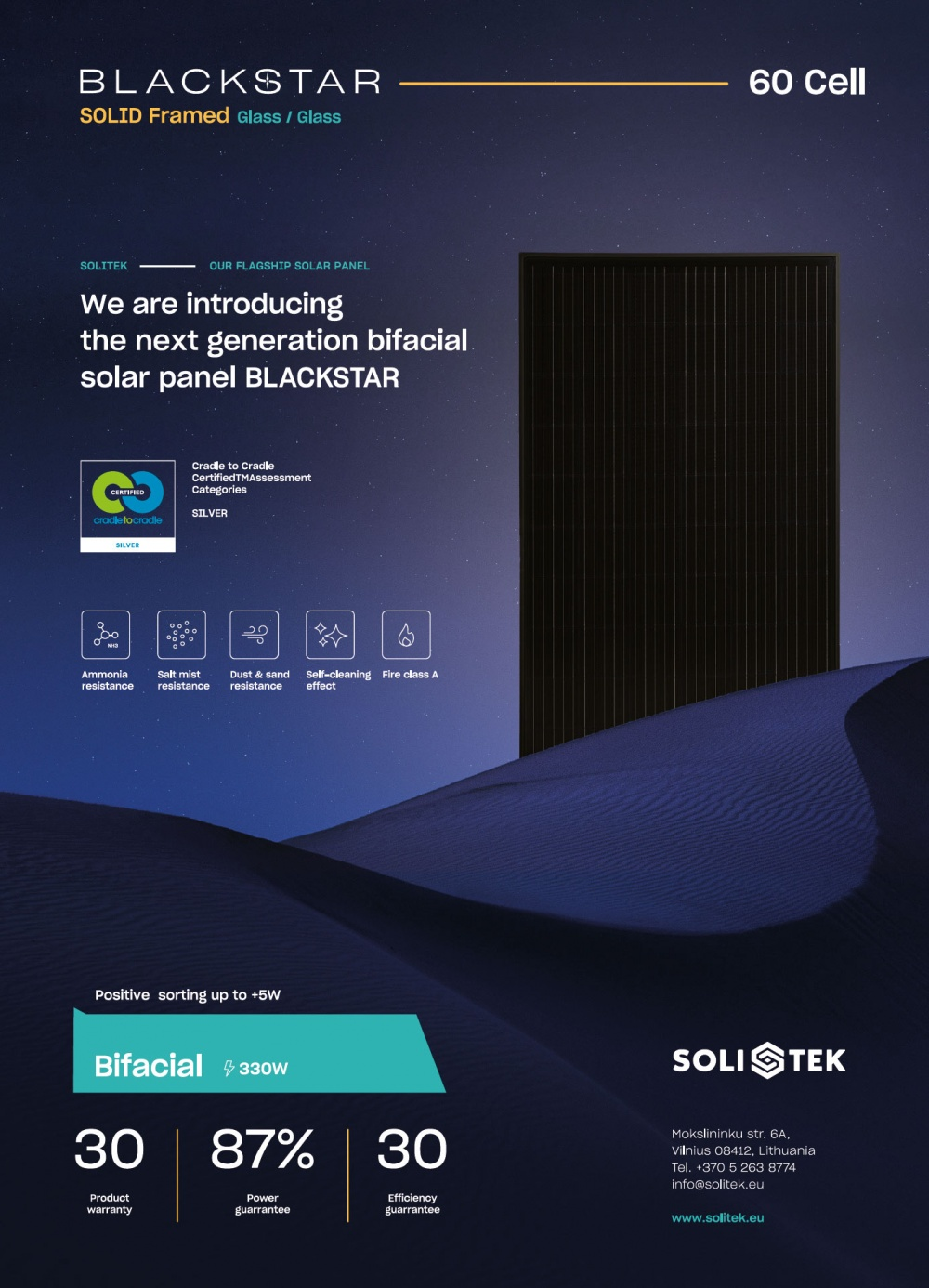 BLACKSTAR - new ultimate solar panel from SoliTek