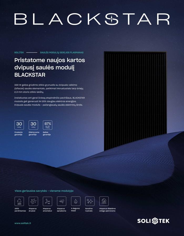 BLACKSTAR - new ultimate solar panel from SoliTek